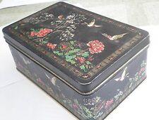 VINTAGE ORIENT TIN METAL BOX CASE,CHINA JAPAN Eastern world Ornament Asia,retro