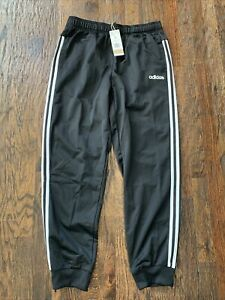 Adidas Men's 3 Stripes Tricot Tapered Cuff Joggers Pants Black Size L GD5957 New