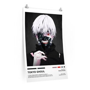 Tokyo Ghoul Anime Poster, Minimalist Vintage Style, Retro Art Print Poster