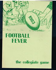 1983 edition Football Fever The Collegiate Game  Mint