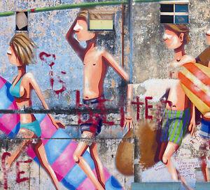 MASSIVE Graffiti Street Art surfing Gold Coast Print Large Canvas Painting