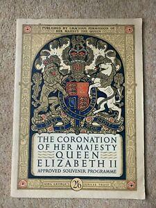 Coronation of Her Majesty Queen Elizabeth II Approved Souvenir Programme 1953