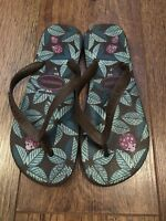 39-40 6/7 BROWN HAVAIANAS FLIP FLOPS BEACH/SUMMER/HOLIDAY/TOWIE/CLUB/CELEB/PARTY