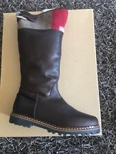 AMMANN OF SWITZERLAND Brown Sz39 Boots Leather Sheep Wool Lining Italy MRSP $400
