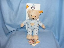 Steiff Baby Teddy And Me In Blue Pyjamas New Baby Boy 241642 Gift Present