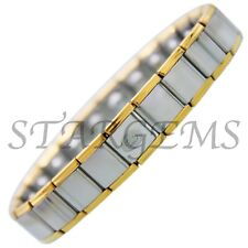 MENS EXPANDING STAINLESS STEEL MAGNETIC BRACELET ARTHRITIS PAIN RELIEF LADIES