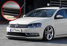 Alerón espada Front alerón de ABS para VW Passat 3c b7 con Abe negro brillante