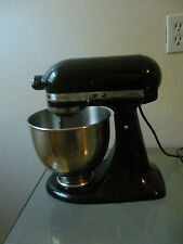 Kitchen Aid 5 qt Artisan Stand Mixer with 4 Attachments KSM150 Bowl Onyx Black