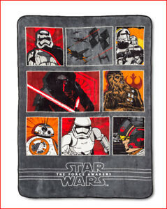Disney STAR WARS Plush BLANKET - The Force Awakens Chewy Kylo Ren TWIN 🌟NEW🌟