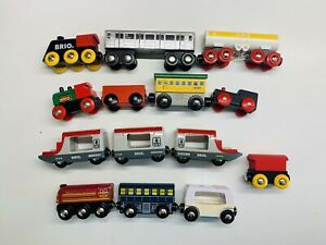 Lot Of Assorted Wooden Trains Brio & Thomas Compatible Mixed Engines Tenders