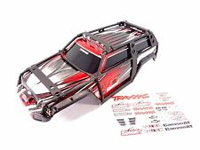 NEW TRAXXAS 1/10 SUMMIT PAINTED RED BODY SHELL WITH EXOCAGE & DECAL SHEET 5607