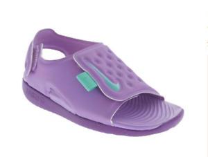 Nike Sunray Adjust 5 Atomic Violet/ Hyper Grape Kids Girls Size 4C