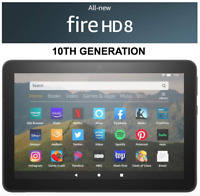 NEW Amazon Fire HD 8 Tablet 32 GB - 10th Generation 2020 Release - BLACK