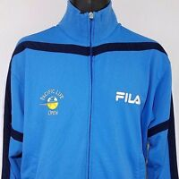 FILA Mens Track Jacket Pacific Life Open Tennis Full Zip Warm Up Blue Size Large