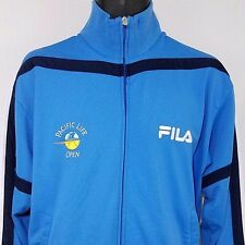 FILA Tracksuit Track Jacket Pacific Life Open Tennis Warm Up Blue Mens Sz S L