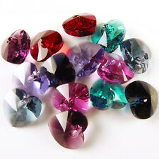 Swarovski : Heart Mix 10mm:  plain colours : 5 pairs