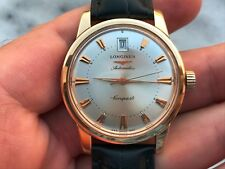 LONGINES CONQUEST HERITAGE 7290.633 AUTOMATIC L633.5 SOLID GOLD 18K MENS 35.2mm