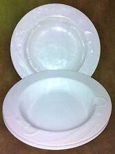 Mikasa CLASSIC FLAIR WHITE Calla Lilies Three Rim Soup Bowls