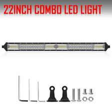"2ROWS 22INCH 1360W LED Light Bar  Flood Spot Offroad Pickup For Jeep Ford 20""24"