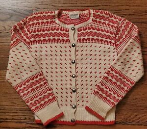 Hand Knitted Vintage Brown Cardigan Size SM