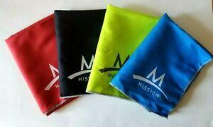 "Mission Enduracool Microfiber Cooling Towel 12"" x 33"" Sports Wear ~ Pick Color~"