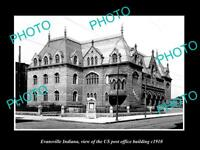 OLD 6 X 4 HISTORIC PHOTO OF EVANSVILLE INDIANA THE US POST OFFICE BUILDING c1910