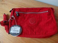 Kipling PUPPY wash toiletries cosmetic bag RED travel NWT K13618-100