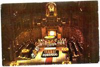 Vintage unused Postcard, Spain, Montserrat, inside view of Church