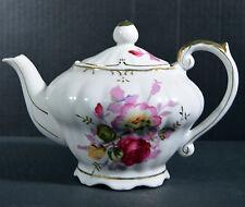 """Vintage 9"""" Japanese Gilt Ornate Porcelain Teapot Music Box Tea For Two"""