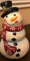 Snowman Ceramic Figurine Christmas Decor