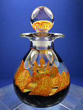 Vintage 1977 Caithness Glass Petal Ink bottle ~ Perfume Bottle ~ Paperweight