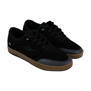 Emerica Dissent Mens Black Suede Surf Low Top Lace Up Skate Sneakers Shoes 9
