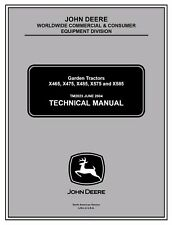 John Deere X465 X475 X485 X575 X585 garden tractor technical service manual