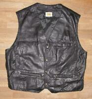 """ Leda Swan "" Men's Outdoor Leather Vest / Vest IN Black Approx. Size 54/56"