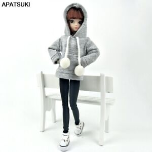 """Gray Sweatshirt Coat For 11.5"""" Doll Clothes Outfits Pants Canvas Shoes 1/6 Toy"""