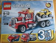 LEGO Creator 3in1 Highway Pickup (7347) Kit with Box and 4 instruction manuals
