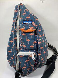 Kavu Flamingo Crossbody Bag Medium Zip