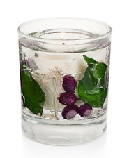 Stoneglow Plum & Blackberry Botanical Gel Tumbler with natural wax candle