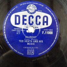 78rpm TED Heath volgare/OSCILLANTE Shepherd Blues, DECCA F 11000