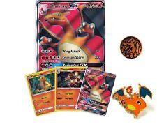 Pokemon Charizard GX SM60 Premium Collection Card Bundle (Jumbo, 3 promos, Pin+)