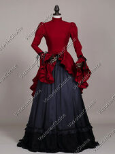 Victorian Edwardian Christmas Caroling Holiday Gown Dress Theater Clothing 324 L