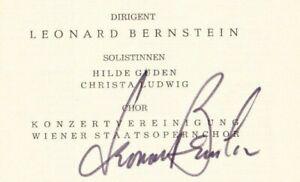 Leonard Bernstein original autograph on program, VPO Vienna 1967