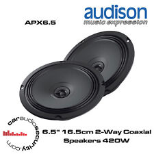 """Audison APX6.5 - 6.5"""" 16.5cm 2-Way Speaker Door Speakers 420 Watts Total Power"""