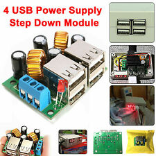 12V Step Down to 5V 5A 4 Port USB Power Supply Module DC Converter Phone Charger