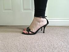 Anne Michelle Patent Strappy High Heel Open Toe Shoes Size 7/40