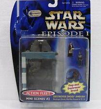 STAR WARS-EPISODIO I-SERIE Micro Machines MINI SCENE 2 con 3 FIGURE-ORIG. HASBRO