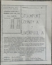 More details for stockport county a v liverpool a 1972/73
