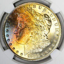 1885-O Morgan Silver Dollar NGC MS66 CAC Gorgeous Toning! Olathe Dollar Hoard