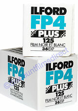 2 x ILFORD FP4 125 35mm 36exp CHEAP B&W CAMERA FILM BY 1st CLASS POST