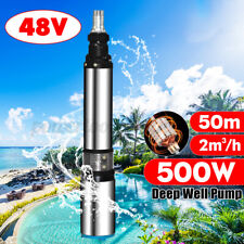 500W DC 48V 2M³/H Flow 50M Max Lift Deep Well Pump Submersible Water Pump Farm